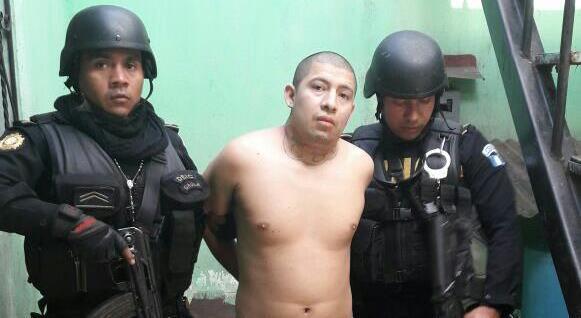 Carlos Estuardo García González, detenido. (Foto: PNC)