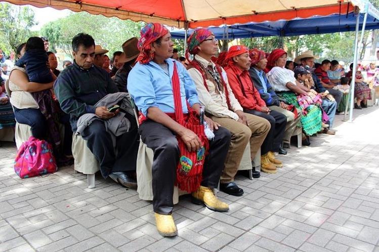 Líderes indígenas participan en actividad en Santa Cruz del Quiché. (Foto Prensa Libre: Óscar Figueroa).