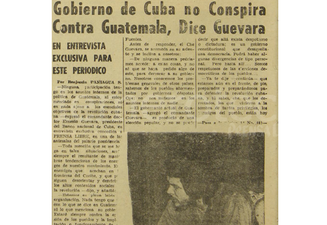 Nota periodística donde se reprodujo la entrevista al Che Guevara en 1959. (Foto: Hemeroteca PL)