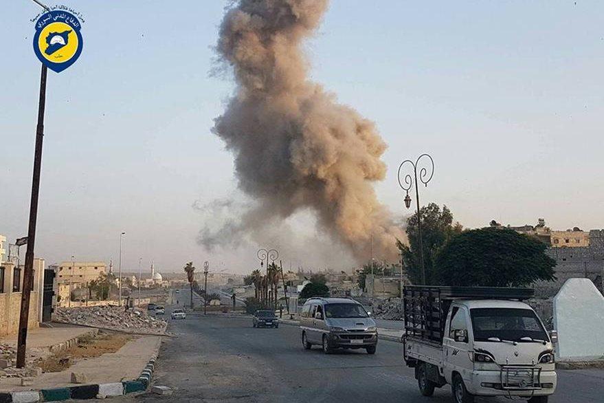 Daños por bombardeos en Alepo, Siria. (AP)