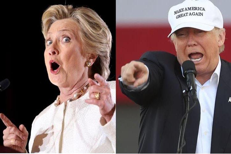 Estadounidenses ya no pueden más con campaña agresiva y vacía de Hillary Clinton y Donald Trump. (AFP).