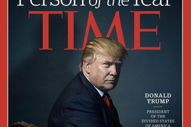 Ésta es la portada que la prestigiosa revista Time dedica al presidente electo de EE. UU., Donald Trump. (Foto Prensa Libre: EFE).