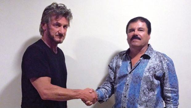 """La revista """"Rolling Stone"""" publica foto de un encuentro entre el actor Sean Penn y """"el Chapo"""" Guzmán. (internet)"""