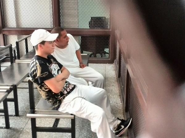 Kevin Davis Canté Mérida y Mynor Alejandro Rodríguez Pablo, supuestos integrantes de la Mara Salvatrucha, implicados en el doble crimen. (Foto Prensa Libre: Hemerteca PL)