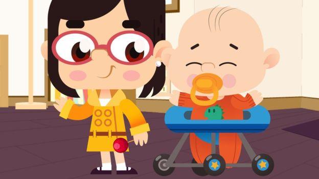 Mina y Jack dan vida a Marion Ye-na y James Yu-sap en la serie de dibujos animados.(Hans House Productions)