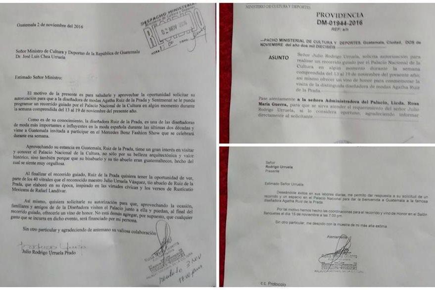 Los documentos demuestran que el primo del ministro de Cultura es quien solicita el préstamo de las instalaciones. (Foto Prensa Libre: Cortesía)