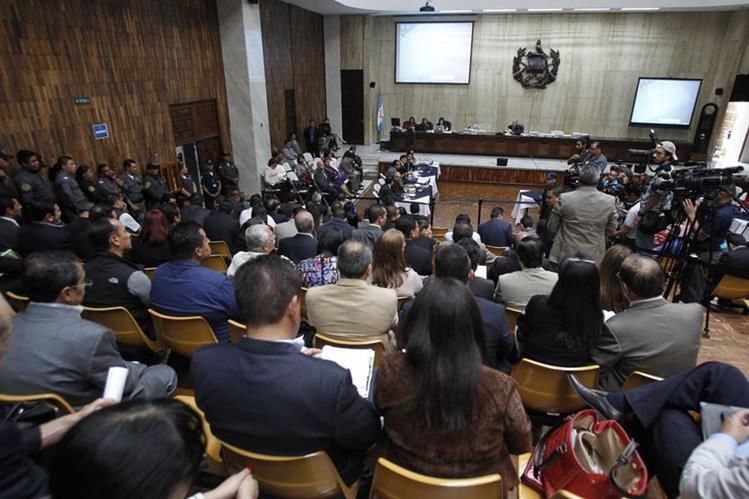 La audiencia se desarrolla en la sala de vistas de la Corte Suprema de Justicia. (Foto Presa Libre: Hemeroteca PL)