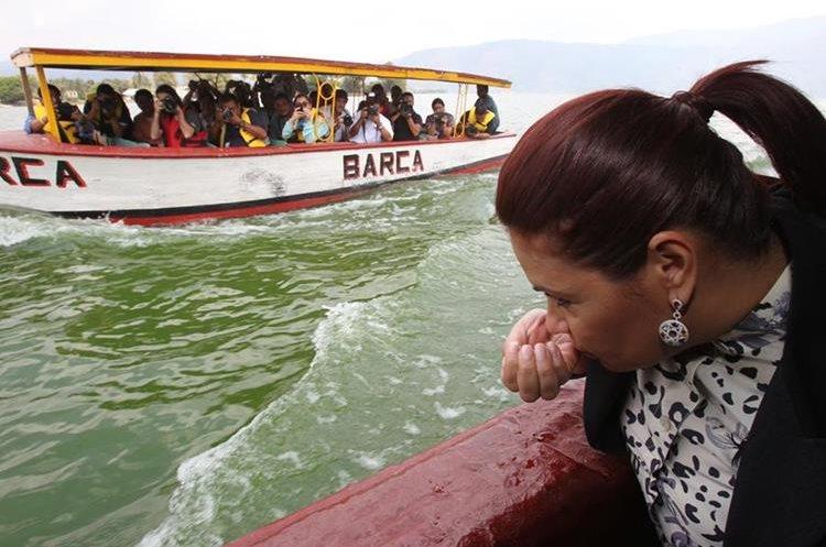 La ex vicepresidenta, Roxana Baldetti, fue condenada por un caso de corrupción relacionado con el saneamiento del Lago de Amatitlán. (Foto Hemeroteca PL)