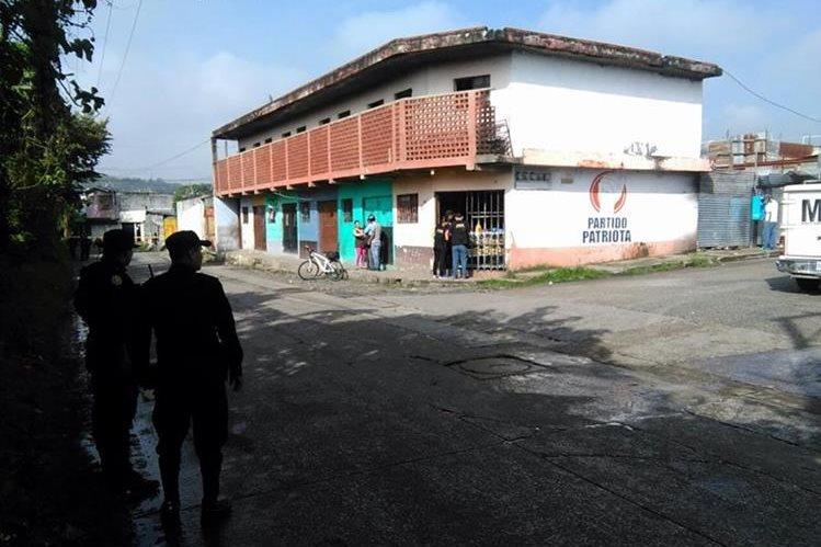La víctima tenía ocho meses de atender la panadería. (Foto Prensa Libre: Estuardo Paredes)