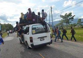 Migrantes que buscan llegar a EE.UU., ingresan a Guatemala .
