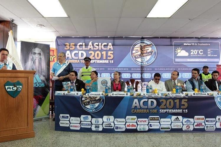 En Conferencia de Prensa la carrera fue presentada (Foto Prensa Libre: Marcela Morales)