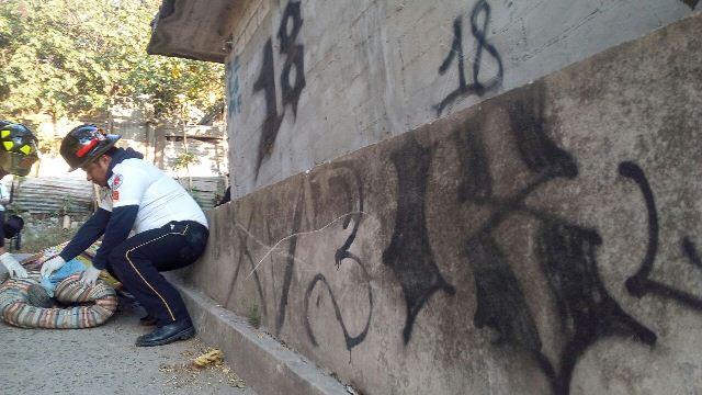 Cuerpo de una adolescentes es encontrado en la colonia Santa Faz, tiene señales de violencia. (foto Prensa Libre: Érick Ávila)