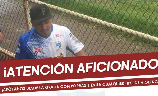 Directiva de Suchitepéquez identifica a mal a aficionado y le prohíbe el ingreso al Carlos Salazar hijo. (Fotos Suchi).