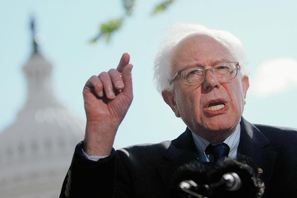 Sanders anunció hoy oficialmente su candidatura. (Foto Prensa Libre: EFE).