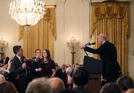 """El presidente trató a Jim Acosta de """"enermigo del pueblo y maleducado"""" entre otras cosas"""