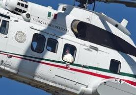 El Papa fue trasladado en helicópteros de la Fuerza Aérea Mexicana durante su estancia en ese país. (Foto Prensa Libre: AFP).