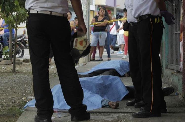 En la colonia Bethania, zona 7, fueron ejecutadas dos personas.