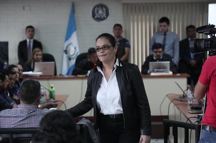 Roxana Baldetti asiste a una de las audiencias de la fase de conclusiones por el caso Agua Mágica. (Foto HemerotecaPL)