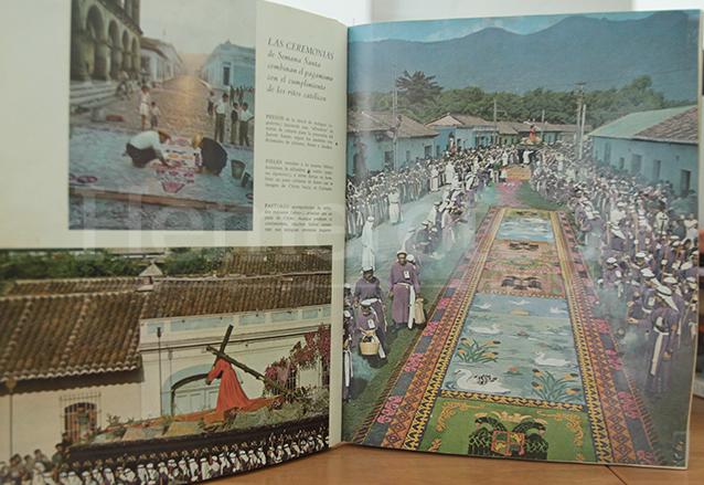 Un libro de 1971 de la biblioteca Universal Time Life, muestra la alfombra de la familia Montiel. (Foto: Hemeroteca PL)