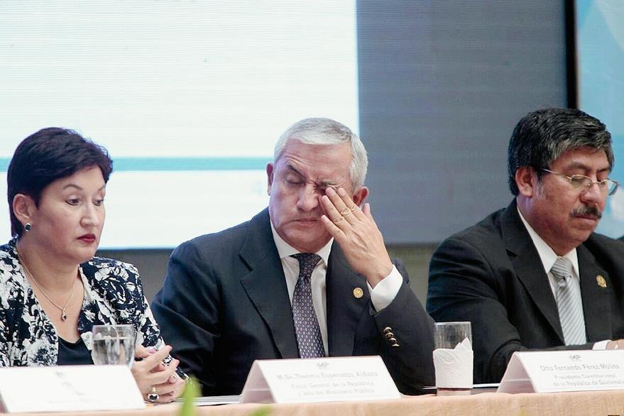Otto Pérez Molina, Presidente del país, en una actividad en el Ministerio Público.