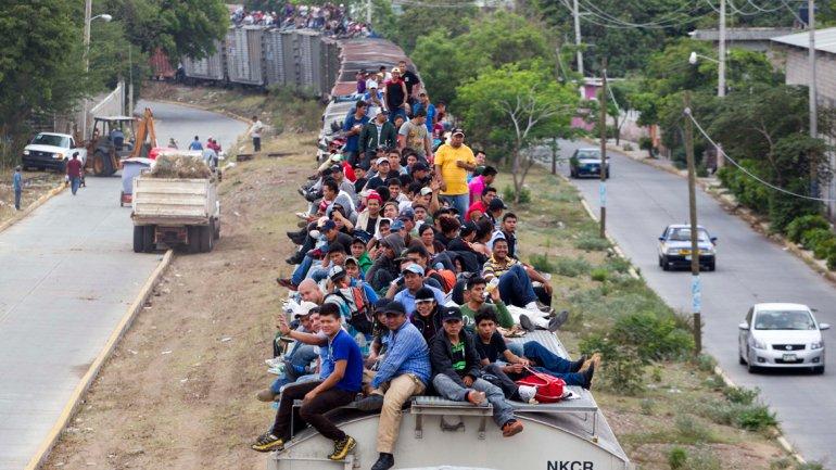 La violencia y el narcotráfico también afecta a Centroamérica desde donde miles salen al año para intentar llegar a EE. UU. (Foto Prensa Libre: AFP).