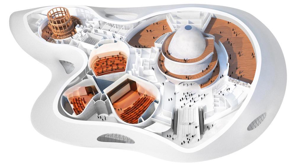 Así lucirá el proyecto que incluye el museo George Luces, en Chicago. (Foto Prensa Libre: Hmeroteca PL)