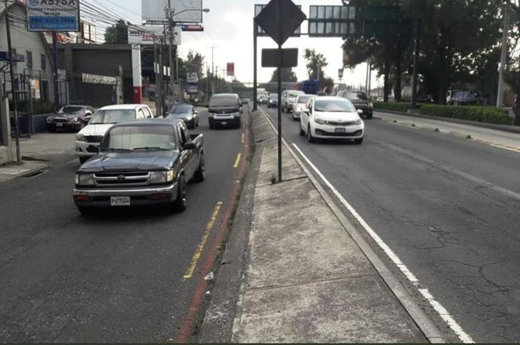 El carril de la 35 a las 50 calle de la Aguilar Batres será habilitado a partir de las 16.30 horas. (Foto Prensa Libre: Cortesía PMT de Villa Nueva)