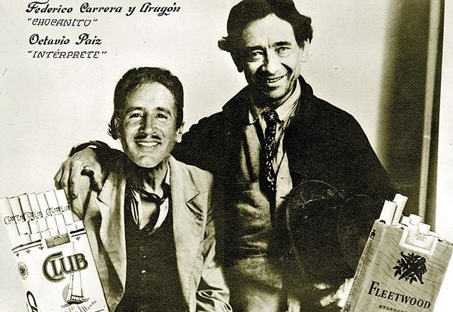 Federico Carrera y Aragón junto al actor Octavio Paiz. Este cartel, de los años 1940, anunciaba el programa radial Los Chocanitos. (Foto: Hemeroteca PL)