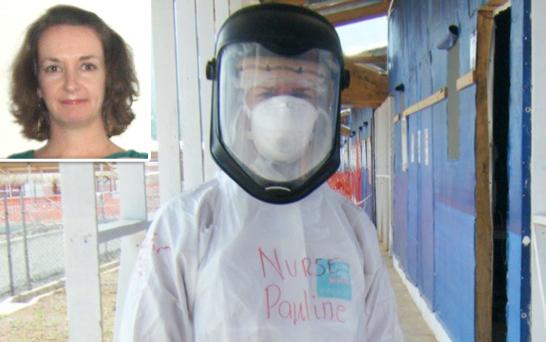 Pauline Cafferkey, aislada dos veces después de contraer el ébola en Sierra Leona.
