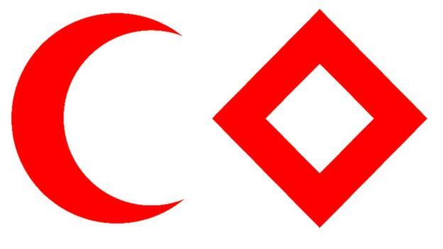La intención es que los emblemas denoten neutralidad y, sobre todo, protección.
