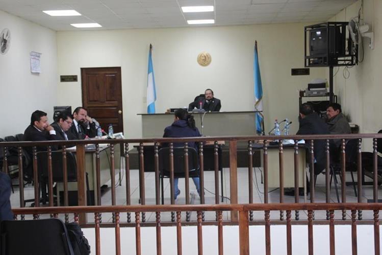 Tribunal de Huehuetenango, donde se llevó a cabo la audiencia contra los tres dirigentes de Codeca. (Foto Prensa Libre).