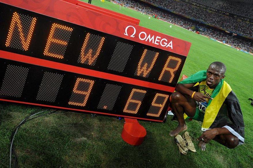 En Pekín 2008 Bolt impuso una nueva marca mundial en 100 metros. (Foto: EFE)