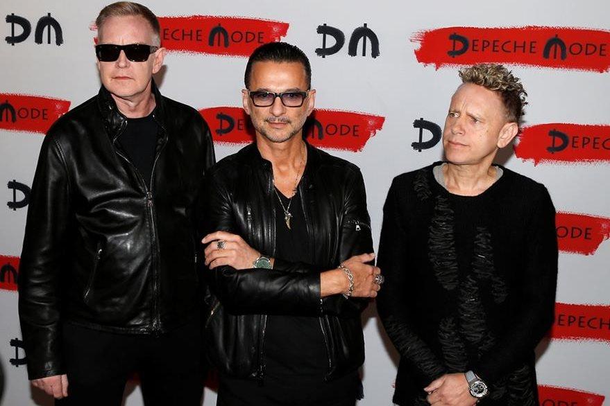 Los músicos de la banda Depeche Mode están listos para ofrecer varios conciertos. (Foto Prensa Libre: AP)