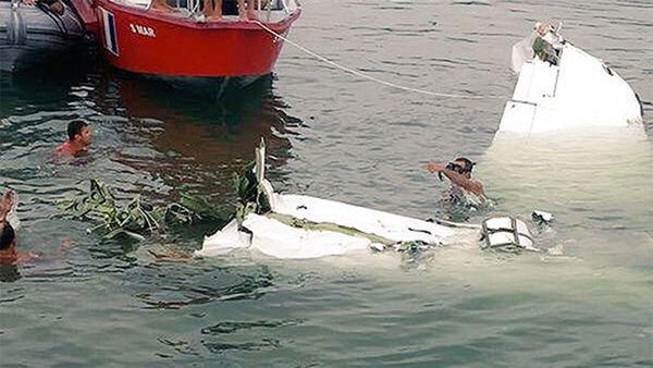 La avioneta que cayó en costa Paraty, en Río de Janeiro.