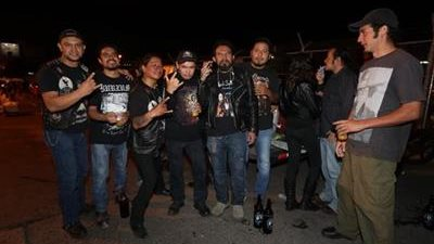 Seguidores de Cannibal Corpse y Napalm Death, que se quedaron sin ver a la banda en su concierto del 2 de octubre en Guatemala (Foto Prensa Libre: Óscar Rivas).
