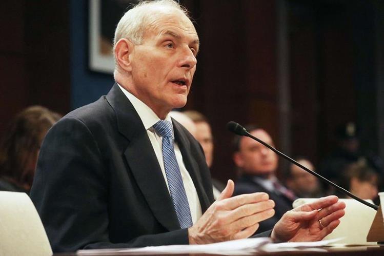 El secretario de Seguridad Interior de EE. UU., John Kelly.(Foto Prensa Libre: AFP).