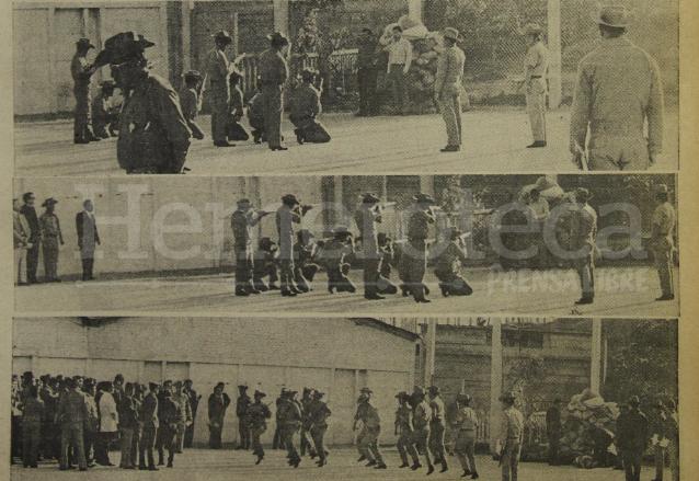 Ejecución de los ex patrulleros que asesinaron a María Etelvina Flores Herrera, que tuvo lugar en Zacapa el 15 de abril de 1975. (Foto: Hemeroteca PL)