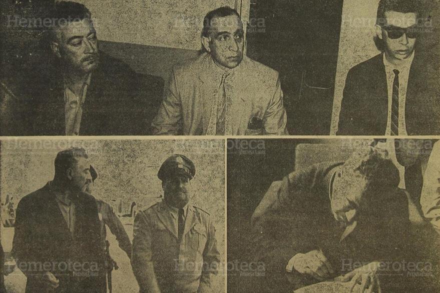 12/03/1965. Carlos Gutiérrez Custodio, Gerente de la Lotería Nacional, al momento de escuchar la lectura del acta levantada después de su exhibición personal. (Foto: Hemeroteca PL).