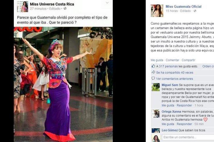 Controversail comentario de la página de Facebook de Miss Universe Costa Rica. (Foto Prensa Libre: Hemeroteca PL)